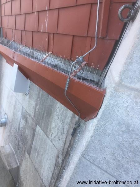 Turmentwässerung über neue Dachrinnen (Foto: Baier)
