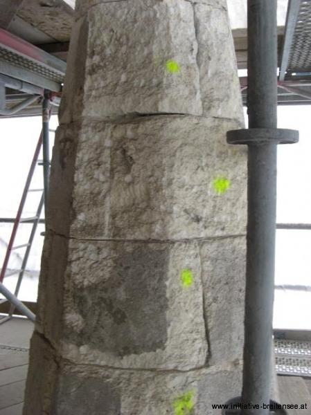 Nicht alle Steinteile können erhalten werden. (Foto: Baier)