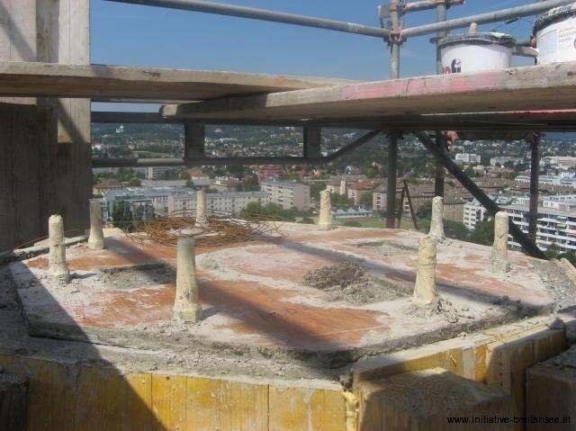 Die Turmspitze wurde aus Ortbeton ausgeführt. (Foto: Baier)