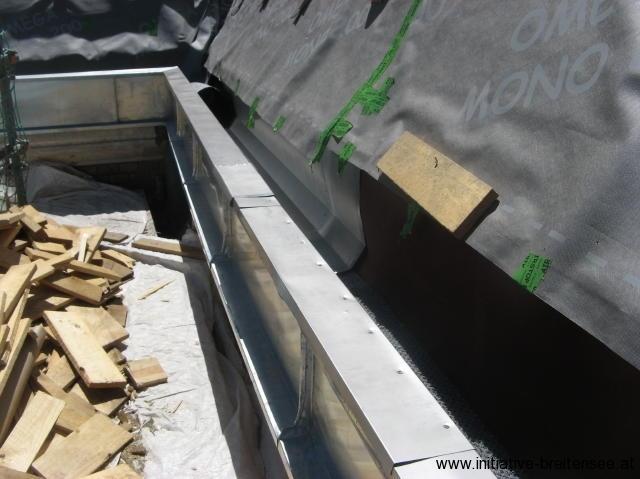 Renovierung der Rinnen (Foto: Baier)