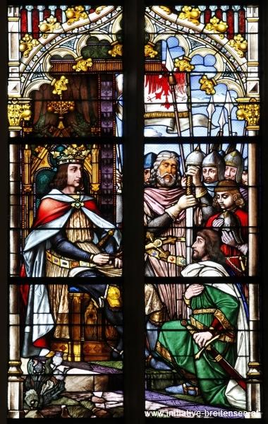 Rodolf I. von Habsburg vereidigt die Kurfürsten auf das Kreuz (Foto: Stöcher)