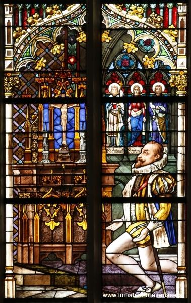 Erzherzog Ferdinand III. (= Kaiser Ferdinand II.) betet in höchster Not vor dem Kreuz (Foto: Stöcher)